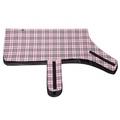 Personalised Pink Check Dog Coat 4