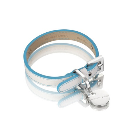 Polo Collar White/Blue