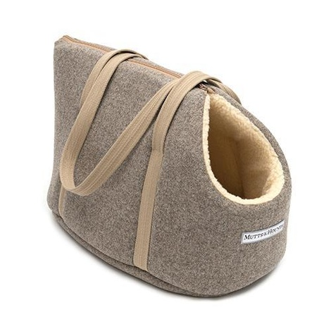 Grey Tweed Dog Carrier