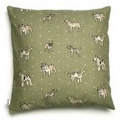 Mutts & Hounds - Dogs Linen Cushion - Green