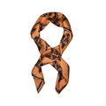 Fox Print Scarf in Orange