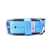 El Perro - 4cm width Fleece Comfort Dog Collar - Sky Blue