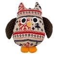 Christmas Plush Owl Dog Toy