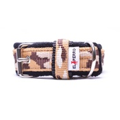 El Perro - 2.5cm width Fleece Comfort Dog Collar – Safari Camo