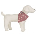 Heather Bone Linen Dog Neckerchief 2