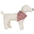 Heather Bone Linen Dog Neckerchief 2