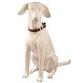 Paris Croc Leather Dog Collar – Burgundy & Stone  3