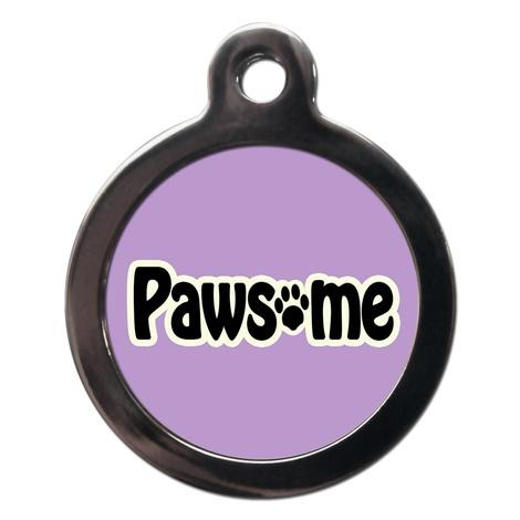 Lilac Pawsome Dog ID Tag