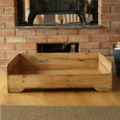 Hunt & Wilson - Personalised Rustic Wooden Dog Bed
