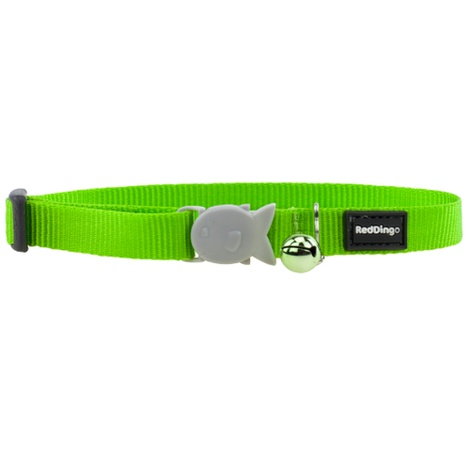 Plain Lime Green Cat Collar