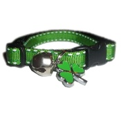 Zukie Style - Irish Green Shamrock Cat Collar With Charm