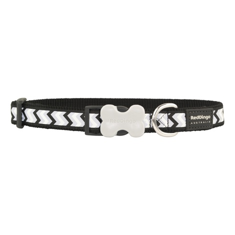 Ziggy Reflective Dog Collar – Black