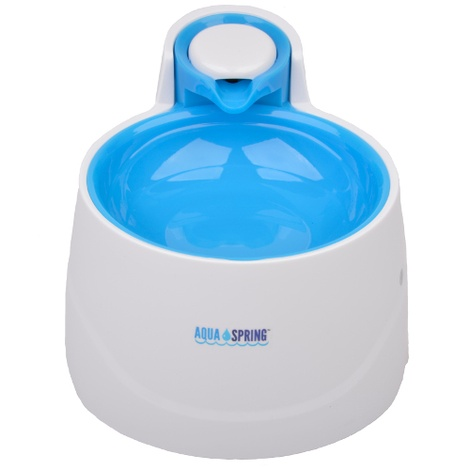 AquaSpring Illuminated Pet Water Fountain - Blue