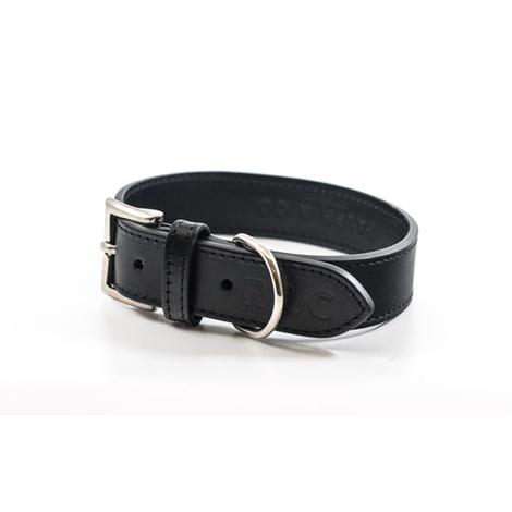 Leather dog collar (Sorrento) - Charcoal 4
