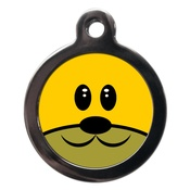 PS Pet Tags - Smiley Doggie Face Dog ID Tag