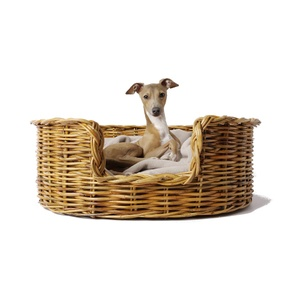 Natural Oval Rattan Dog Basket