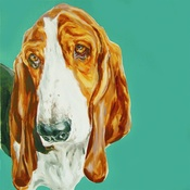 Paint My Dog  - Basset Large Art Print