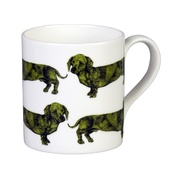 The Graduate Collection - Dachshund Mug - Green
