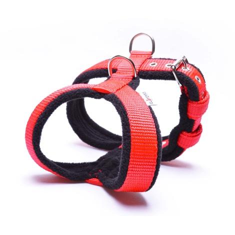 2.5cm Width Fleece Comfort Dog Harness – Red 2