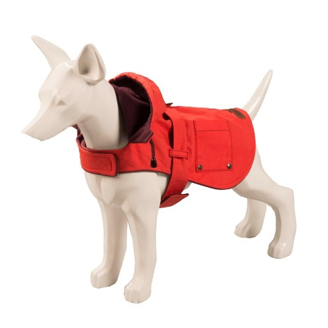 Hampstead Dog Hoodie – Raspberry & Burgundy