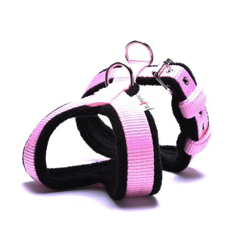 2.5cm Width Fleece Comfort Dog Harness – Baby Pink
