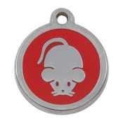 Tagiffany - My Sweetie Red Mouse Pet ID Tag