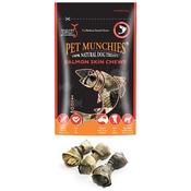 Pet Munchies - 3 x Salmon Skin Chews 90g