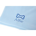 Personalised Baby Blue Bone Dog Blanket - Classic font 2