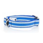Pet Pooch Boutique - Blue Breton Stripe Collar