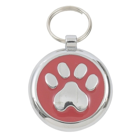 Smarties Red Paw Pet ID Tag