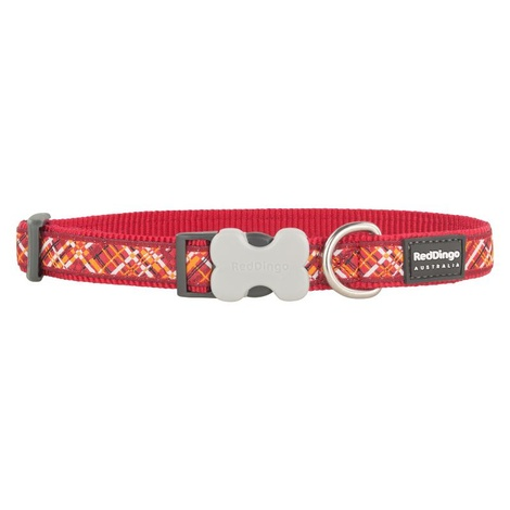 Flanno Dog Collar – Red