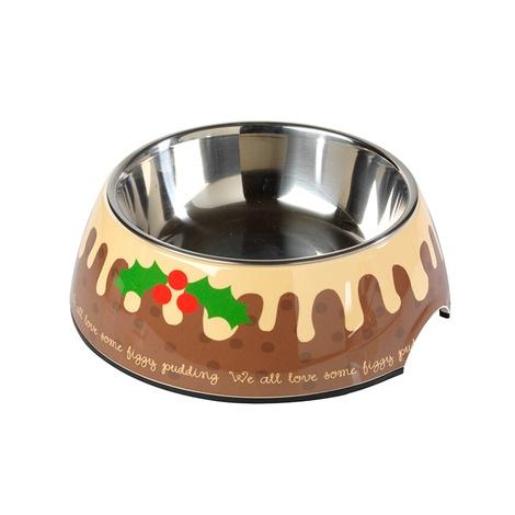 Christmas Figgy Pudding Pet Bowl