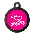 Pink Too Cute Dog ID Tag