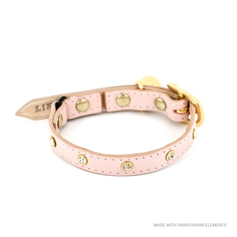 Baby Pink Crystal Cat Collar 2
