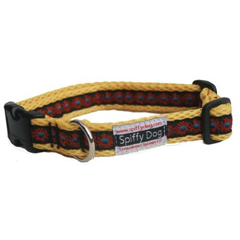 Yellow Sunfire Print Collar