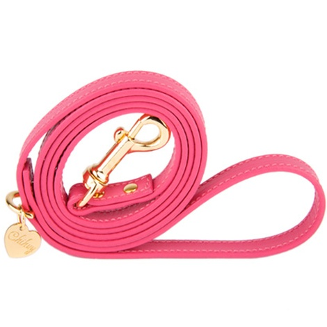 Pink and Gold Luxury Leather Lead