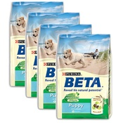 Beta - Puppy/Junior Chicken/Rice Dog Food x 4
