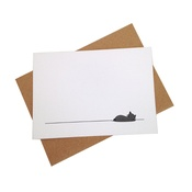 Jin Designs - Set of 12 Sleeping Cat Notecards
