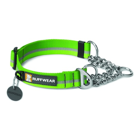 Chain Reaction Dog Collar - Meadow Green