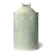 Mutts & Hounds - Ceramic Biscuit Jar - Sage Green