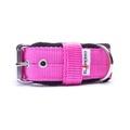 4cm width Fleece Comfort Dog Collar - Fuchsia Pink