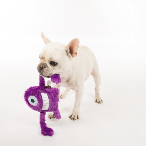 Purple Snore Monster Plush Dog Toy 3