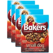 Bakers - Complete Small Dog Beef Dog Food x 4