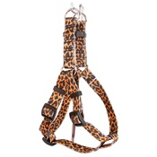 Yellow Dog - Leopard Skin Step-In Dog Harness