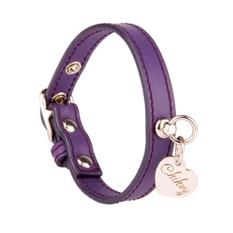 Amethyst and Silver Leather Collar