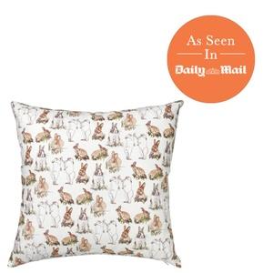 Rabbit Print Cushion