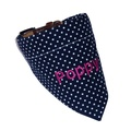 Personalised Dog Bandana – Navy & White Polka Dot 2