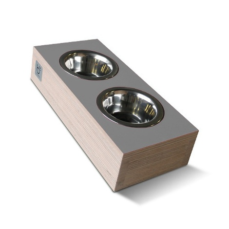 bite&slurp Multi Pet Feeder - Wood & Grey