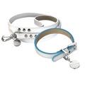 Polo Club Dog Collar & Lead Set - Light Blue Edging
