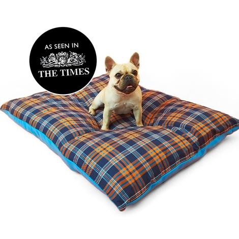 Henry Holland Blue Tartan Dog Bed